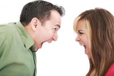 Divorcing Couple Arguing